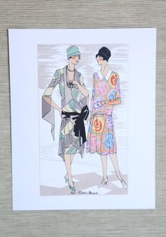 "Bernard Art Deco Fashion Print 16.99 at shopruche.com. This beautiful art deco print by early twentieth century French fashion designer Alice Bernard will add vintage charm to any space.8"" x 10"""