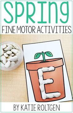 Celebrate the arrival of spring with your preschool, kindergarten, or homeschool students with these 10 exciting spring fine motor skills. The activities can be performed multiple ways, but will always help develop the fine motor skills of prek or kinder students. These low-prep activities may require some prep work like laminating. They are perfect for small groups, morning tubs, centers, or any time you want your students to practice. #finemotor #Spring #Preschool #Kindergarten