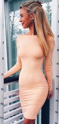 We founded for you 60 trending outfit ideas that shows the multiple great ways to dress up and hot weather summer style. Tight Dresses, Sexy Dresses, Nice Dresses, Dress Skirt, Dress Up, Nude Dress, Girl Fashion, Fashion Outfits, Hipster Fashion