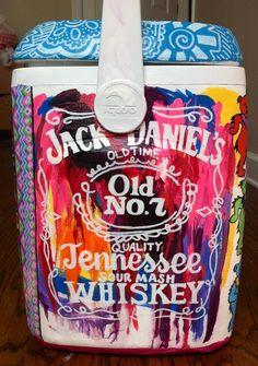 Watercolor Looking Jack Daniels Cooler