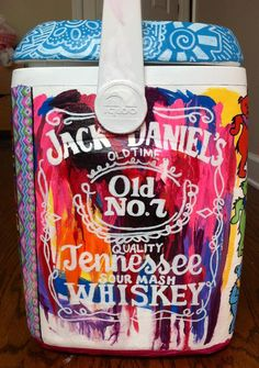 Watercolor Looking Jack Daniels Cooler