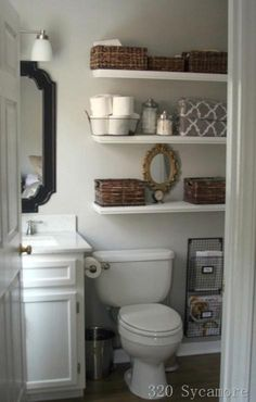 good way to organize a small bathroom