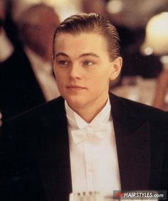 1912 men's hairstyles | Men's Slicked Back Hair. Leonard DiCaprio Titanic Hairstyle While ...
