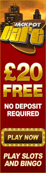 Receive £20 free bonus with no deposit required to try the bingo games. No deposit needed. -- http://www.popularbingosites.co.uk/jackpot-cafe/