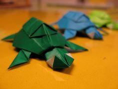 origami turtles by newiiy