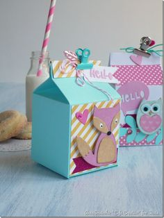 Milk box - Sizzix - Big Shot - Die Cutting - Packaging - Favors - Party by cafecreativo