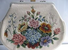 Vintage needlepoint purse