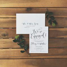 Wedding engagement invitation stationery simple modern classy professional…