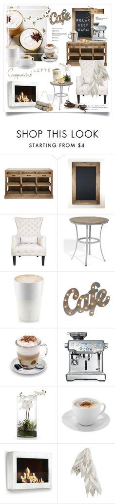 """Relaxed Cafe"" by rever-de-paris on Polyvore featuring interior, interiors, interior design, home, home decor, interior decorating, Cafe Lighting, Oxford Garden, Eva Solo and Aroma"