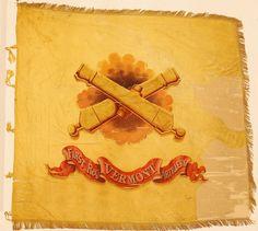Regimental Flag of the 1st Vermont Artillery, issued in Washington, D.C., October/November 1863.