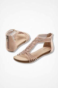 """""""Nyla"""" Sandals from Adam Tucker by Me Too™, Blush"""