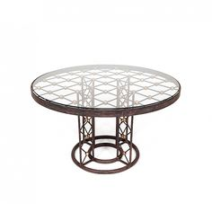 """Jean Royere """"Tour Eiffel"""" coffee table 18""""H x 31.5"""" Dia would make a great center table too"""