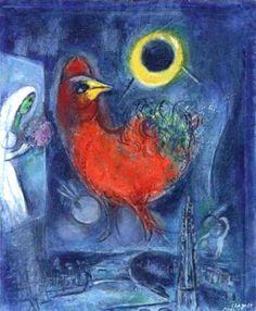 Marc Chagall - La Sainte-Chapelle, étude, 1953.