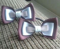 matchin school bows xx