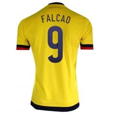 6ab38a2f6 Colombia national team 2015 Home Yellow Falcao  9 Jersey Colombia national  team 2015 Home Yellow Falcao  9 jerseys