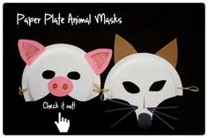 Paper Plate Animal Masks - Peapod Labs