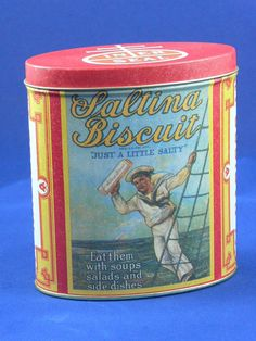 Nabisco  Saltina Biscuits Tin   MG193 by MasterGreig on Etsy,