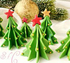 Φτιάξτε Χριστουγεννιάτικα δεντράκια απο ζαχαρόπαστα
