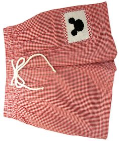 Royal Child Smocked Mickey Mouse Swimsuit-Trunks for Boys
