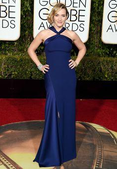 1.10.16  Kate Winslet in Ralph Lauren at Golden Globe Awards