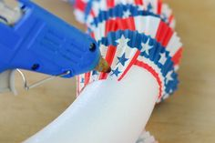 Patriotic Cupcake Liner Wreath | eHow Crafts | eHow