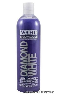 Wahl Diamond White Shampoo Wahl Diamond White Shampoo will enhance revitalise and refresh the natural white and light pigmentation within the hair.