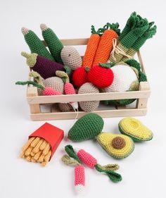 Crochet play food - vegetables - from Le Panier de la Marchande au Crochet