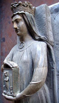 Richard I Lionheart of England married Berengaria of Navarre (above), daughter of King Sancho VI of Navarre. Richard's mother, Eleanor of Aquitaine, was responsible for arranging this marriage because an alliance with Navarre will provide greater security for the southern border of Aquitaine in France.
