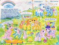 My Little Pony Baby Pony and Pretty Pal Backcard