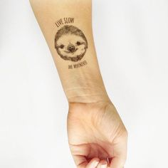 Not ready for a full-on sloth tattoo commitment? Try out these temporary tattoos for size.