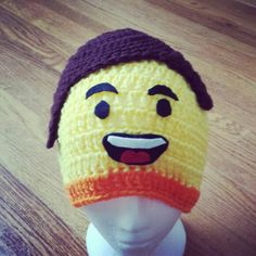 The Lego Movie Crocheted Emmet Crochet Lego, Crochet Baby, Hat Patterns, Crochet Patterns, Crochet Character Hats, Crocheted Hats, Diaper Covers, Everything Is Awesome, Lego Movie