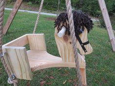Toddler Horse Tree Swing with 10 Feet of Rope each от WoodSwings