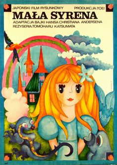 The Little Mermaid Mala syrena Bodnar Hanna Polish Poster