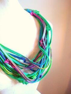 Emerald Jewel Tone Infinity Scarf Necklace  Green by LovelySquid, $45.00