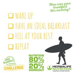 Message me today about 6 day breakfast trial Fitness Nutrition, Herbalife, Wake Up, Challenges, Messages, Workout, Feelings, Memes, Breakfast