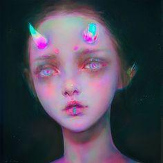 Papers.co wallpapers - av91-girl-paint-inner-sin-yanjun-cheng-illustration-art - http://papers.co/av91-girl-paint-inner-sin-yanjun-cheng-illustration-art/ - illustration
