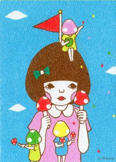 Mushroom Girl / SUNAE Artist Naoshi
