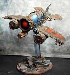 Dakkajet, Conversion, Fighta-bomba, Orks, Warhammer 40k