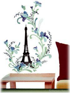 $16.99 Paris In Spring Eiffel Tower Wall Mural
