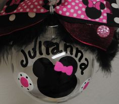 Image detail for -Disney MINNIE MOUSE Christmas Ornament...personalized-handpainted
