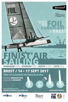 Du 14 au 17 septembre à Brest : Le Finist'Air Sailing. Kite, planche, Moth et Flying Phantom, etc.