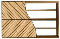 Picture Frame Deck Frame Chevron Decking Pattern Or