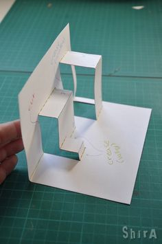 """The asymmetric box fold creates a """"shelf"""" or a few """"shelves"""", that are non-symmetric in height and depth. This technique is the base of many elaborated and impressive cards, all you need is to prac..."""