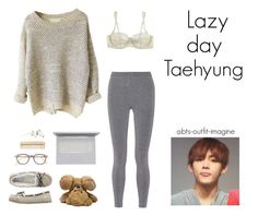 """lazy day with v"" by bts-outfit-imagine ❤ liked on Polyvore featuring art, simple, kpop, korean, bts and taehyung"