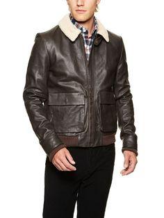 Band of Outsiders Leather Aviator Jacket