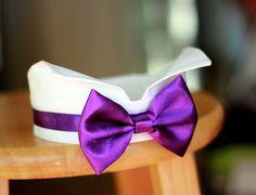 Purple dog bow tie collar, purple ring bearer dog tuxedo collar, purple bowtie, purple wedding, purple dog bow tie, purple dog collar