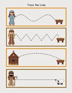 Preschool Printables: Free Nativity Printable