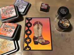 Hi everyone, the July Emerald Creek Dares Challenge is inspired by the song Rhinestone Cowboy . Rodeo Cowboys, Distress Oxide Ink, Colour Pallete, Horse Head, Pumpkin Carving, Color, Colour, Pumpkin Carvings, Colors