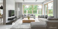 Parcourez les images de Salon de style de style Moderne de HomeKONCEPT | Projekty Domów Nowoczesnych. Inspirez-vous des plus belles photos pour créer votre maison de rêve.