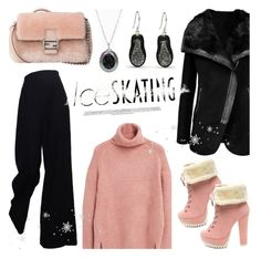 """So Cute: Ice Skating Style"" by littlehjewelry ❤ liked on Polyvore featuring MANGO, The Row, Fendi, Pearl & Black, contestentry, pearljewelry, littlehjewelry and iceskatingstyle"